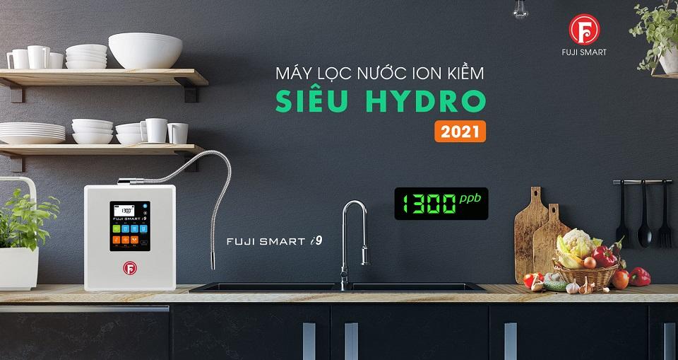 Máy lọc nước ION kiềm siêu Hydro Fuji Smart i9 được trang bị nhiều công nghệ mới đột phá tạo nước ION kiềm với hàm lượng Hydro hòa tan cao vượt trội