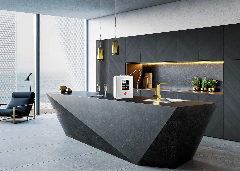 Fuji Smart i9 sở hữu lớp vỏ màu platinum thời thượng, phù hợp với những không gian bếp sang trọng