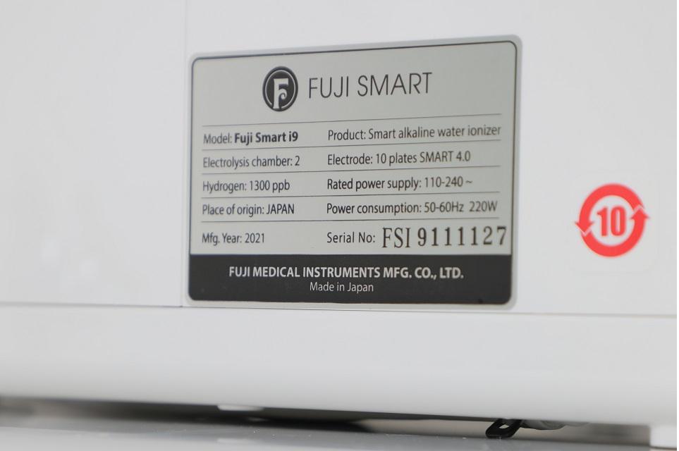 Fuji Smart i9 là sản phẩm máy lọc nước ion kiềm đầu tiên được dán nhãn chứng nhận thân thiện với môi trường