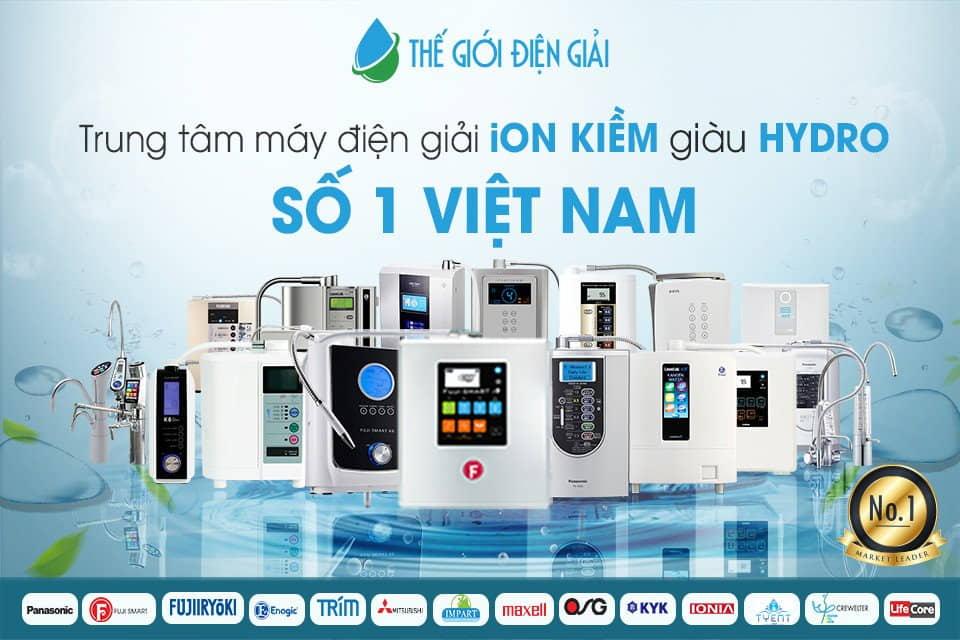 thương hiệu máy lọc nước ion kiềm tốt nhất trên thị trường