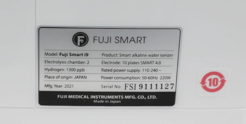 Nồng độ Hydro trên máy Fuji Smart i9