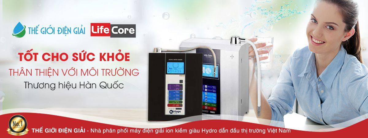 Máy tạo nước ion kiềm Lifecore Hàn Quốc tốt cho sức khỏe