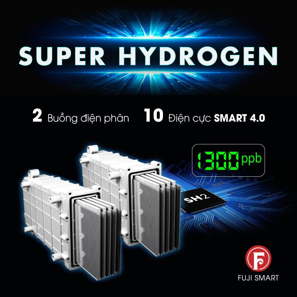 """Máy sử dụng các tấm điện cực nguyên khối phủ Platinum được sắp xếp ở tỷ lệ """"vàng"""" đem đến hiệu suất điện phân cao nhất"""