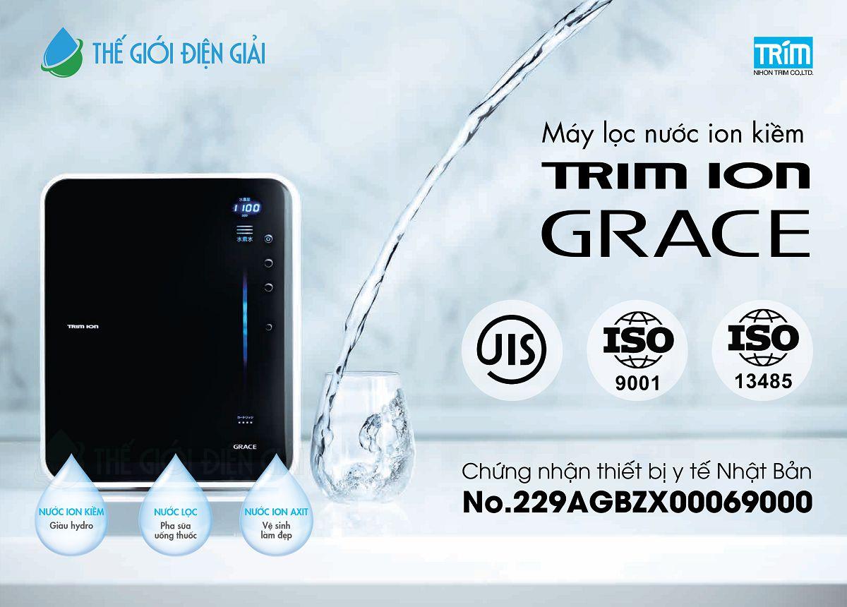 Máy lọc nước ion kiềm Trimion Grace ứng dụng công nghệ mới tạo ra nhiều loại nước