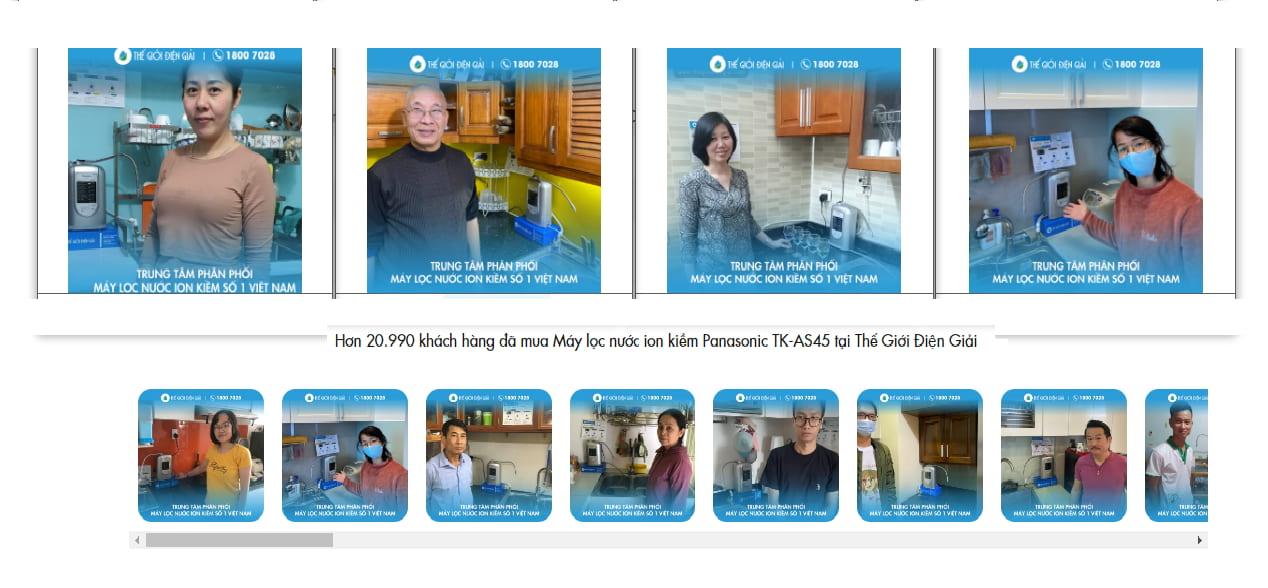 nên mua máy lọc nước ion kiềm Panasonic TK-AS45 nhật bản ở đâu tốt nhất hà nội