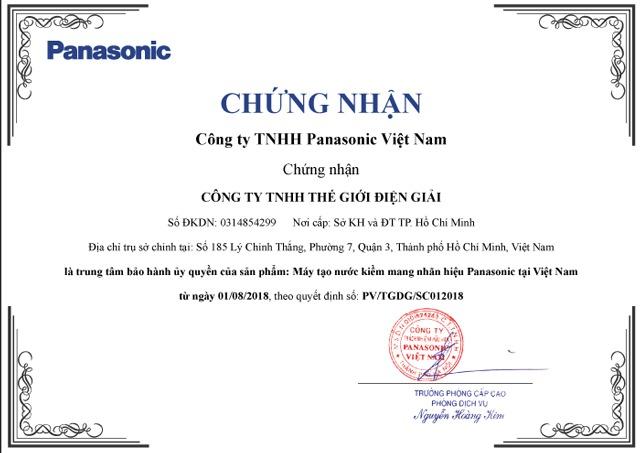 Chứng nhận Trung tâm bảo hành đầu tiên và duy nhất tại Việt Nam