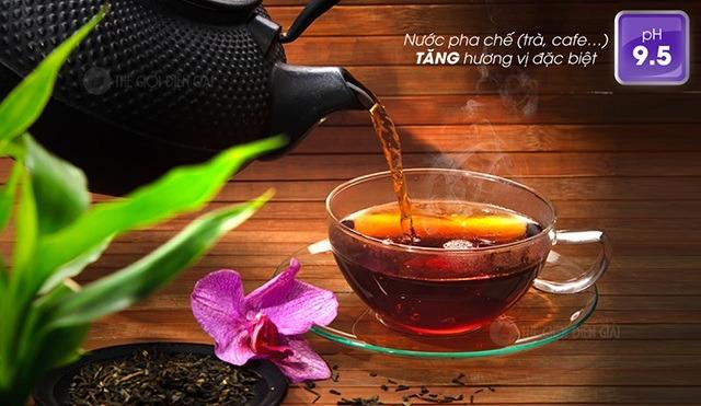 Nước ion kiềm dùng để pha trà