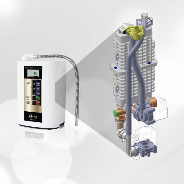 cấu tạo của máy lọc nước điện giải ion kiềm atica eco như thế nào bền không