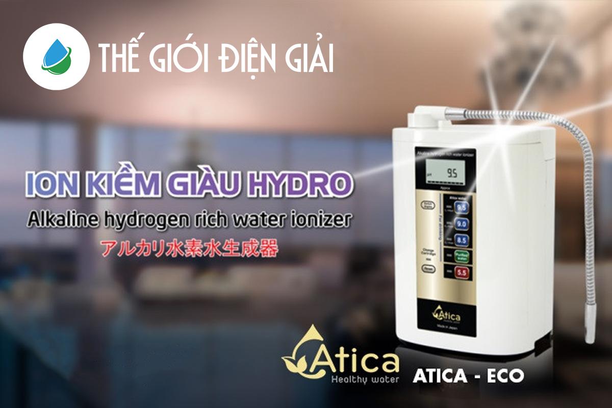 máy lọc nước ion kiềm atica eco bền không tạo được loại nước nào