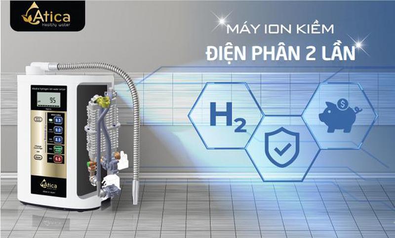 máy lọc nước atica gold tạo nước ion kiềm như thế nào an toàn không