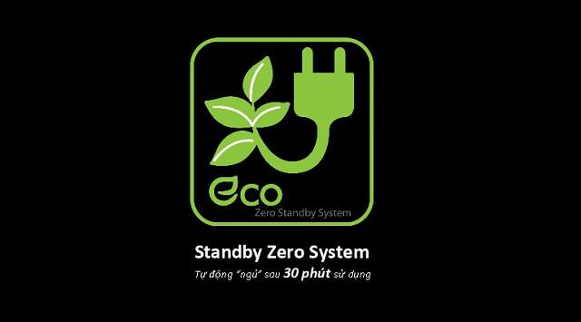 Công nghệ Zero Standby System giúp tiết kiệm điện đáng kể
