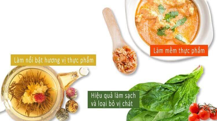 Nước ion kiềm giúp nấu ăn ngon hơn