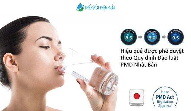 Nước uống iON kiềm pH 8.5 – 9.5 cho thấy cải thiện các triệu chứng tiêu hóa, cải thiện nhu động ruột và giảm bớt sự khó chịu trong dạ dày