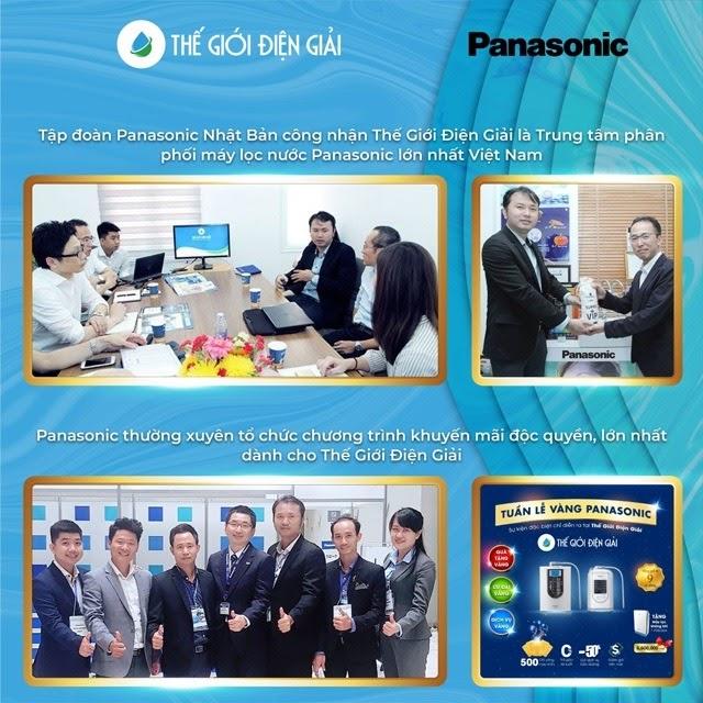 Thế Giới Điện Giải là trung tâm phân phối chính hãng máy điện giải iON kiềm Panasonic