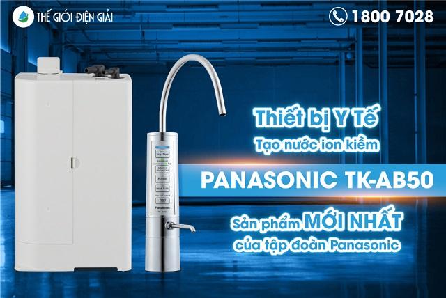 Máy điện giải Panasonic TK-AB50 được công nhận là thiết bị Y tế