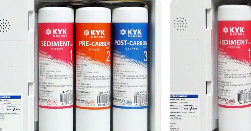 Hệ thống lọc cao cấp của máy điện giải hydrogen ion kiềm KYK HYM 3+