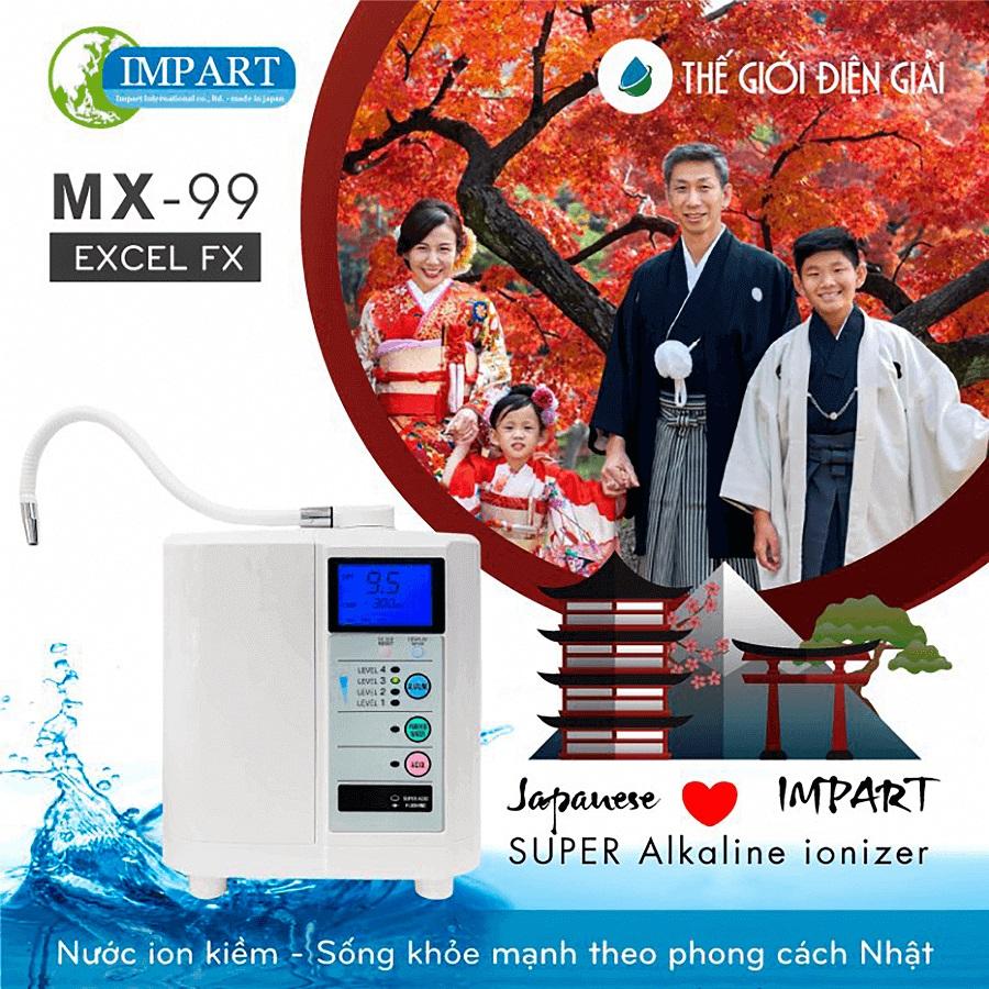 Vì sao nên mua máy lọc nước ion kiềm Impart Excel-FX (MX-99)?