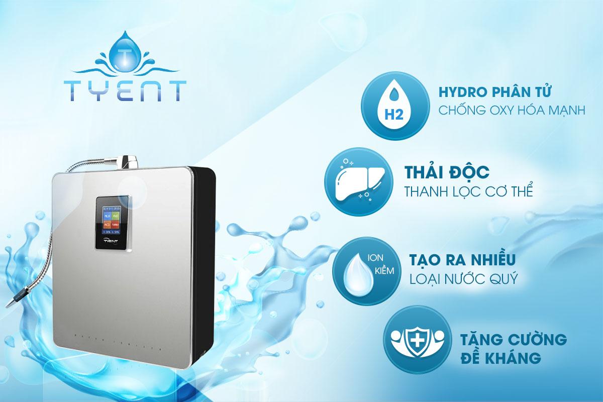 Máy lọc nước ion kiềm Tyent YT20-TL11 tạo ra bao nhiêu loại nước?