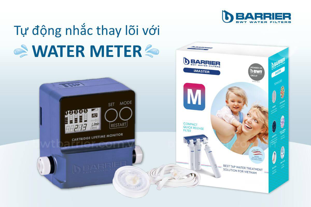 Water meter tự động báo thay lõi máy lọc nước BWT Barrier iMaster M