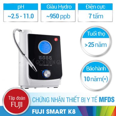 Máy lọc nước ion kiềm Fuji Smart K8 có tốt không?