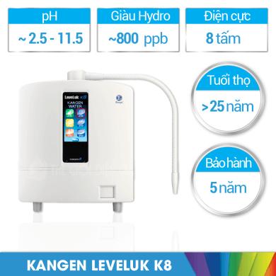 Máy lọc nước iON kiềm Kangen LeveLuk K8 bao nhiêu tiền?