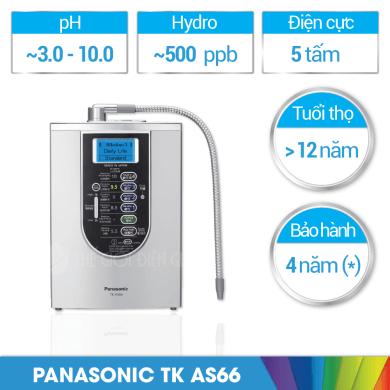 Máy lọc nước ion kiềm panasonic TK-AS66 giá bao nhiêu?