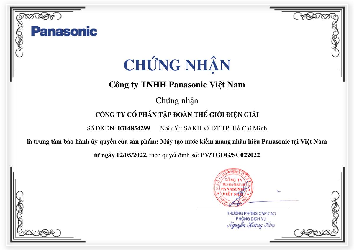 Bảo hành chính hãng máy lọc nước ion kiềm Panasonic