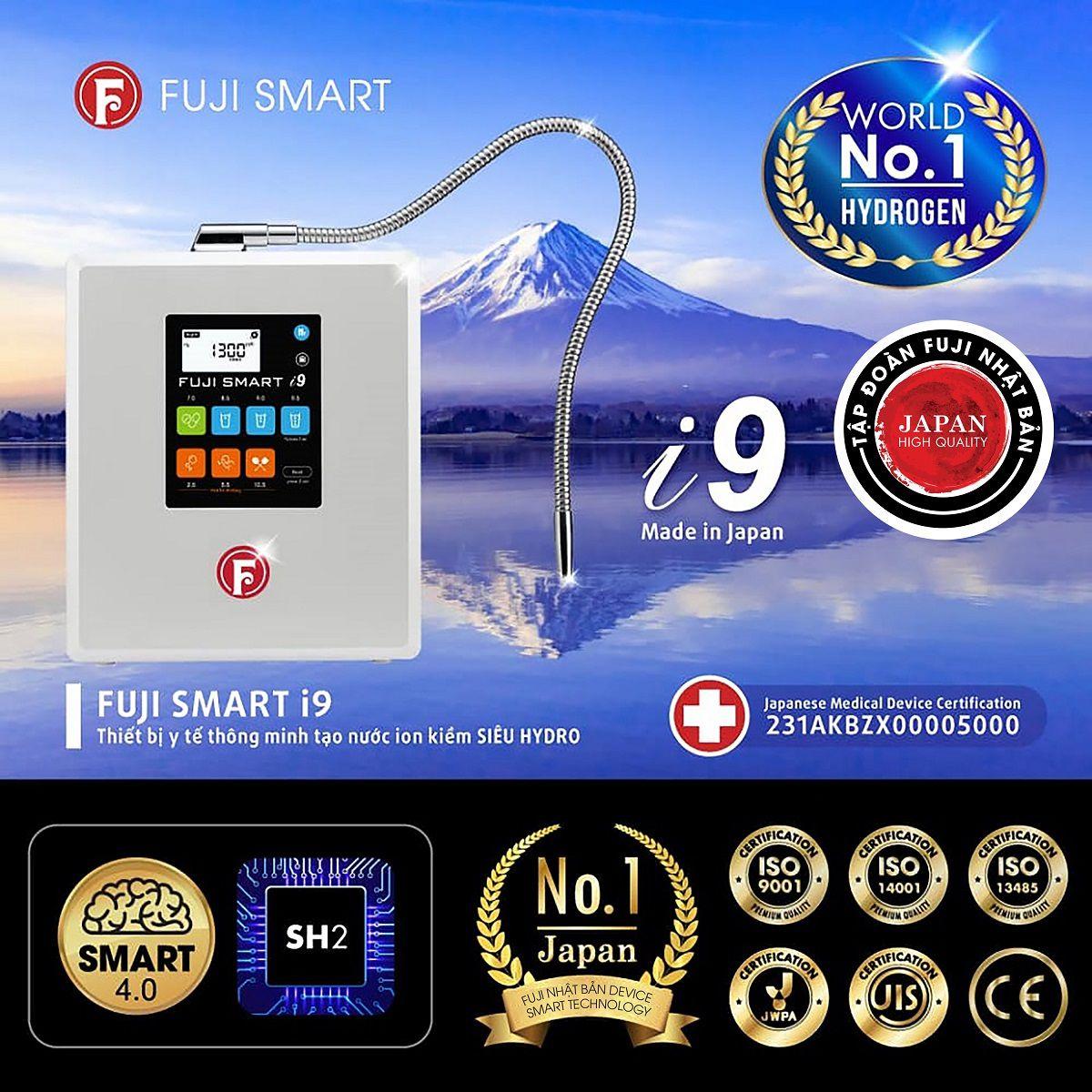 Máy lọc nước ion kiềm Fuji Smart i9 có tạo ra nước ion axit mạnh không?