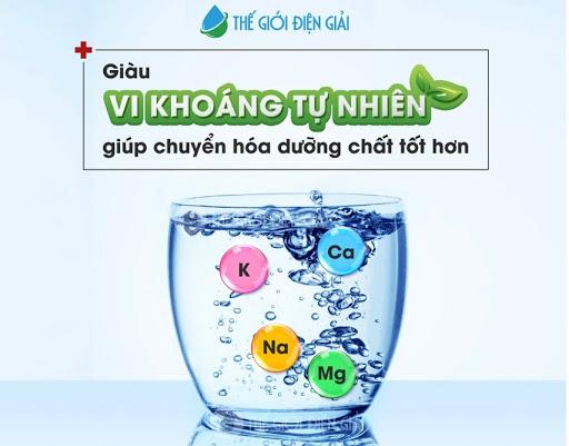 khoáng chất trong nước ion kiềm là gì có tốt cho sức khỏe không