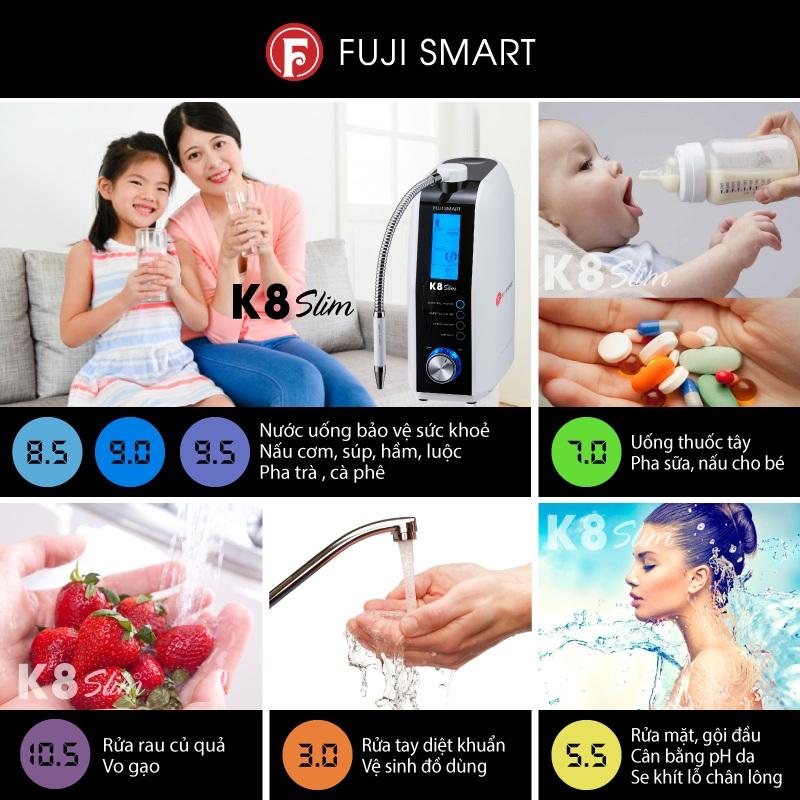 máy lọc nước ion kiềm fuji smart k8 slim có tốt hay không
