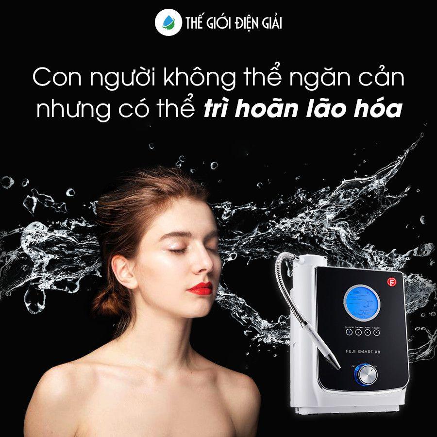 Nước ion axit pH ~ 5.5 từ máy lọc nước điện giải chăm sóc da và tóc hiệu quả