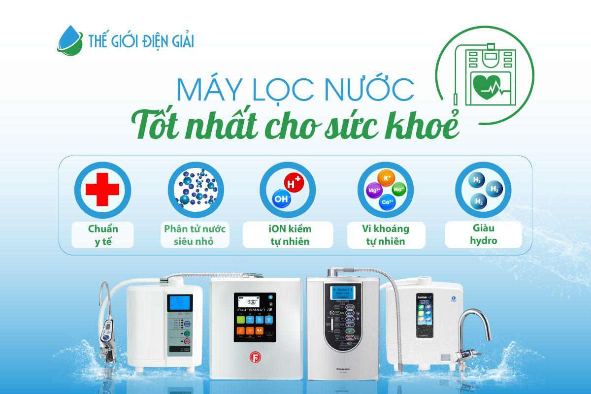 Máy lọc nước tốt nhất phải là ion kiềm tự nhiên giàu hydrogen chuẩn y tế