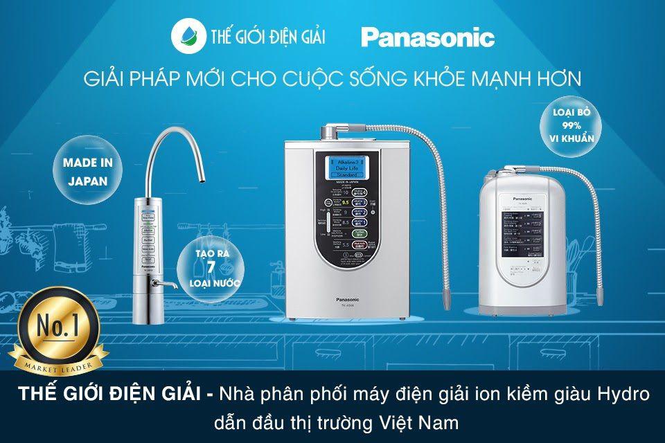 Panasonic đang phân phối 3 loại máy lọc nước điện giải tại Việt Nam