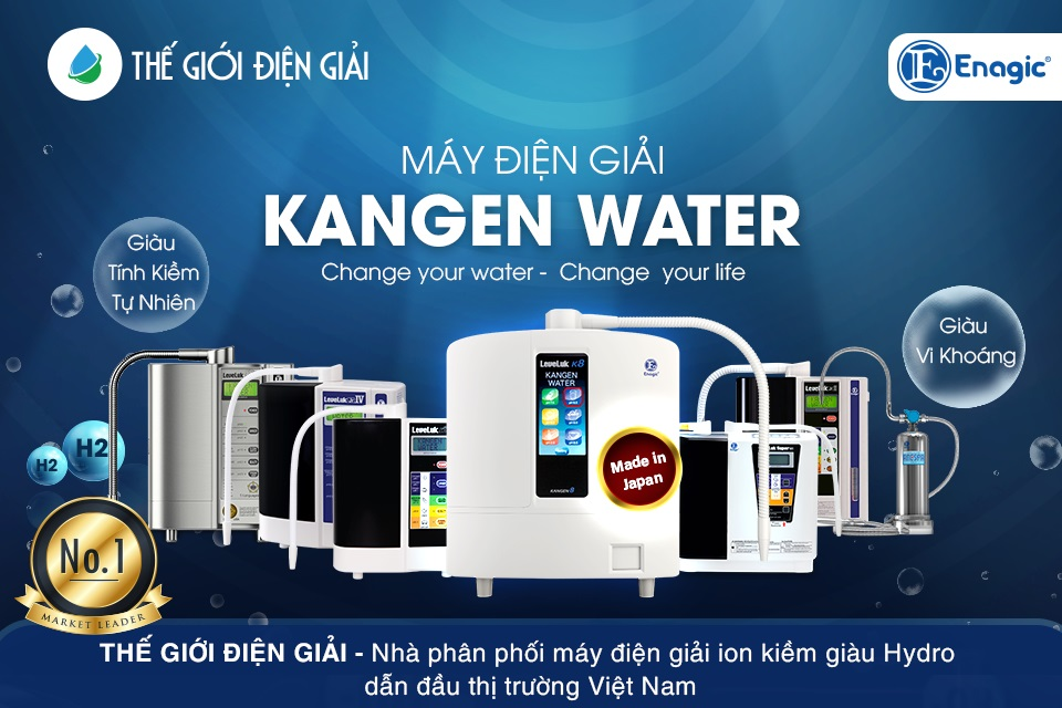 Mua máy lọc nước ion kiềm Kangen Enagic LeveLuk ở đâu tốt nhất