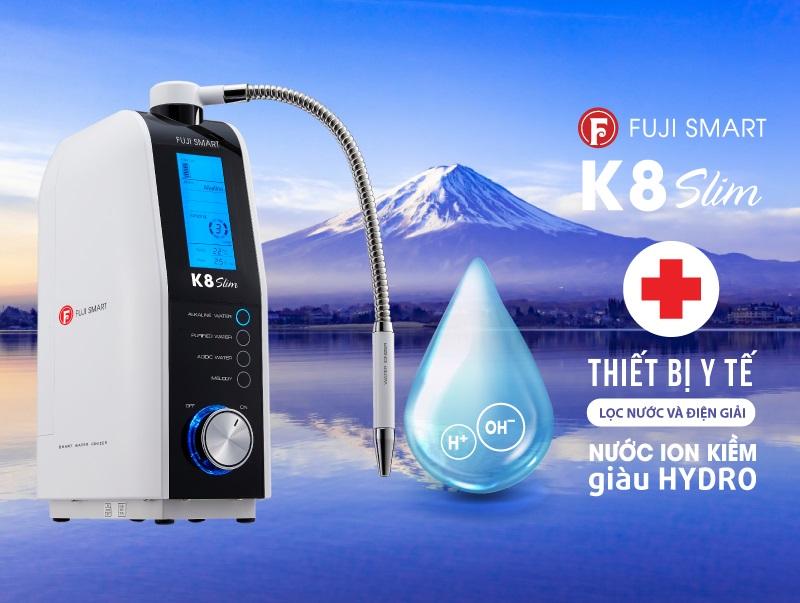 Máy điện giải Fuji Smart K8 Slim được công nhận là chuẩn thiết bị y tế