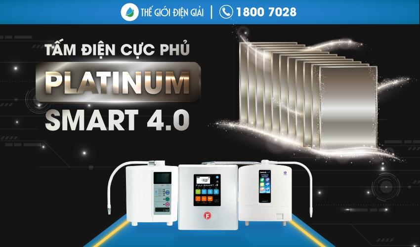 """Tấm điện cực phủ Platinum là """"trái tim của máy lọc nước điện giải"""