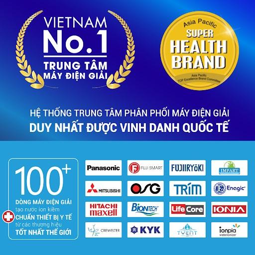 Thế Giới Điện Giải là nhà phân phối máy điện giải duy nhất được vinh danh quốc tế với giải thưởng Health Brand danh giá