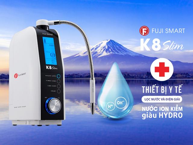 Máy lọc nước ion kiềm Fuji Smart K8 Slim có gì tốt?