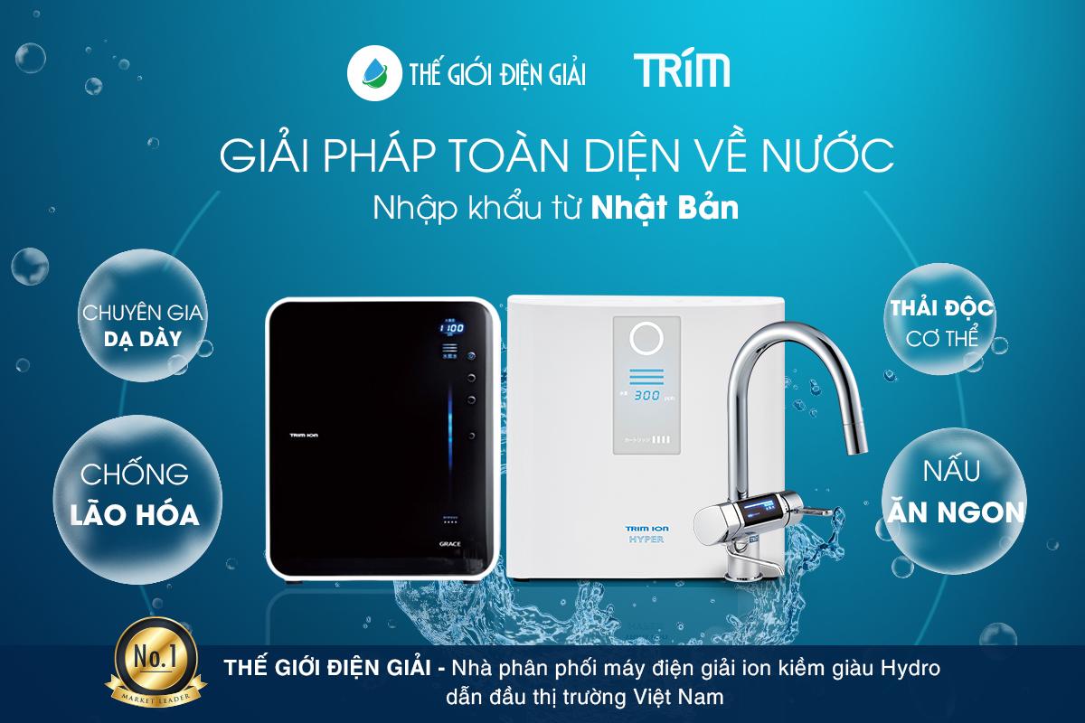 Các model máy lọc nước ion kiềm Trimion