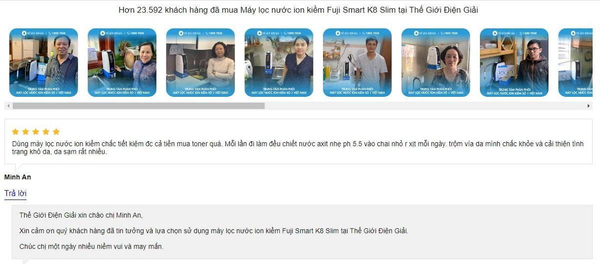 Máy lọc nước ion kiềm Fuji Smart K8 Slim giá bao nhiêu?