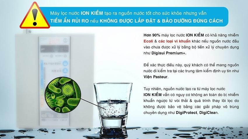 Máy lọc nước ion kiềm vẫn có nguy cơ nhiễm khuẩn nếu không được lắp đặt và bảo dưỡng đúng cách