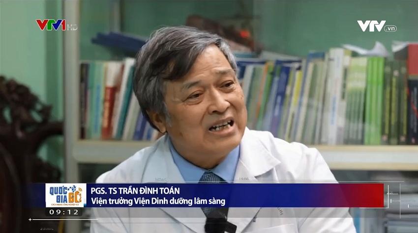 PGS. TS Trần Đình Toán nhận định nước ion kiềm sẽ giúp đường ruột nhẹ nhõm, ăn uống tiêu hóa dễ dàng hơn…