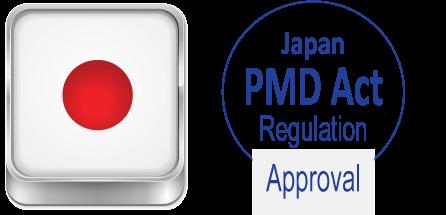 Công nhận từ Đạo luật Dược phẩm và Thiết bị y tế Nhật Bản