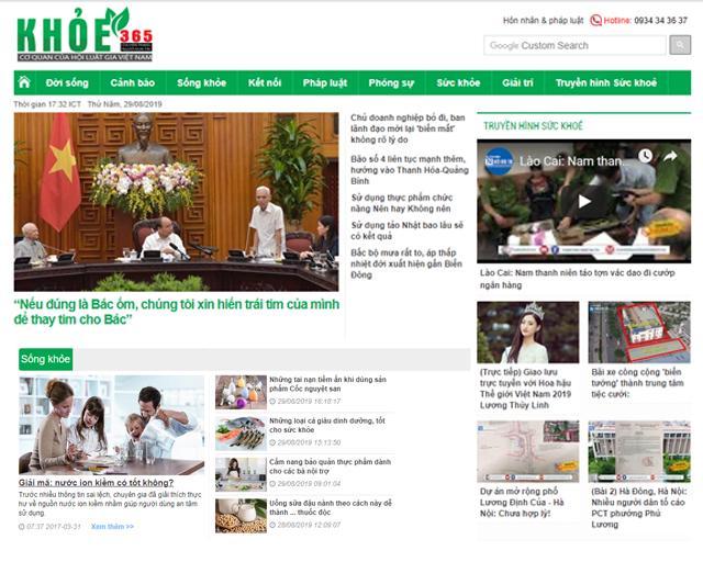 Bài báo từ báo Khỏe 365 ngày 29/08/2019