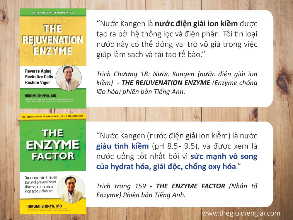 Bác sĩ Hiromi Shinya chia sẻ về tác dụng của nước ion kiềm trong cuốn sách của mình