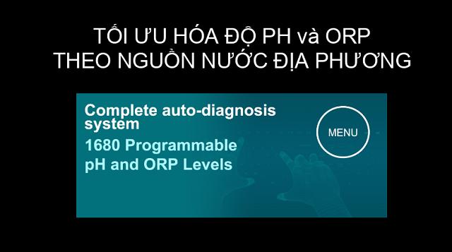Smart P8 sở hữu công nghệ Tối đa hóa độ pH và ORP theo nguồn nước địa phương