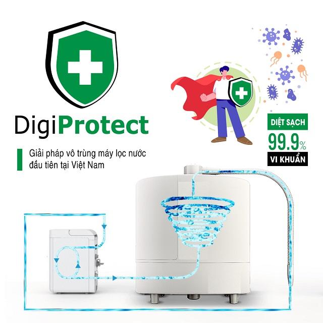 Làm sạch sâu máy lọc nước điện giải bằng dịch vụ DigiClean