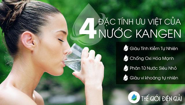 4 đặc tính của nước ion kiềm