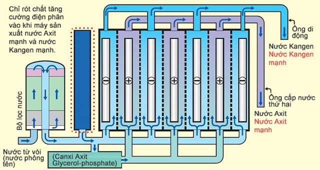 Máy Kangen giúp phân tách các phân tử nước và tái cấu trúc các phân tử nước