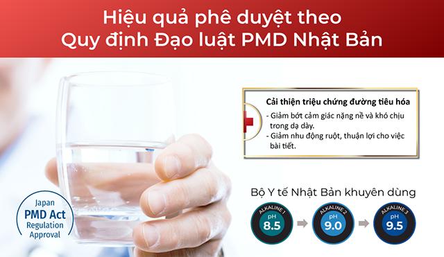 Uống nước ion kiềm (pH 8.5 - 9.5) cải thiện tiêu hóa